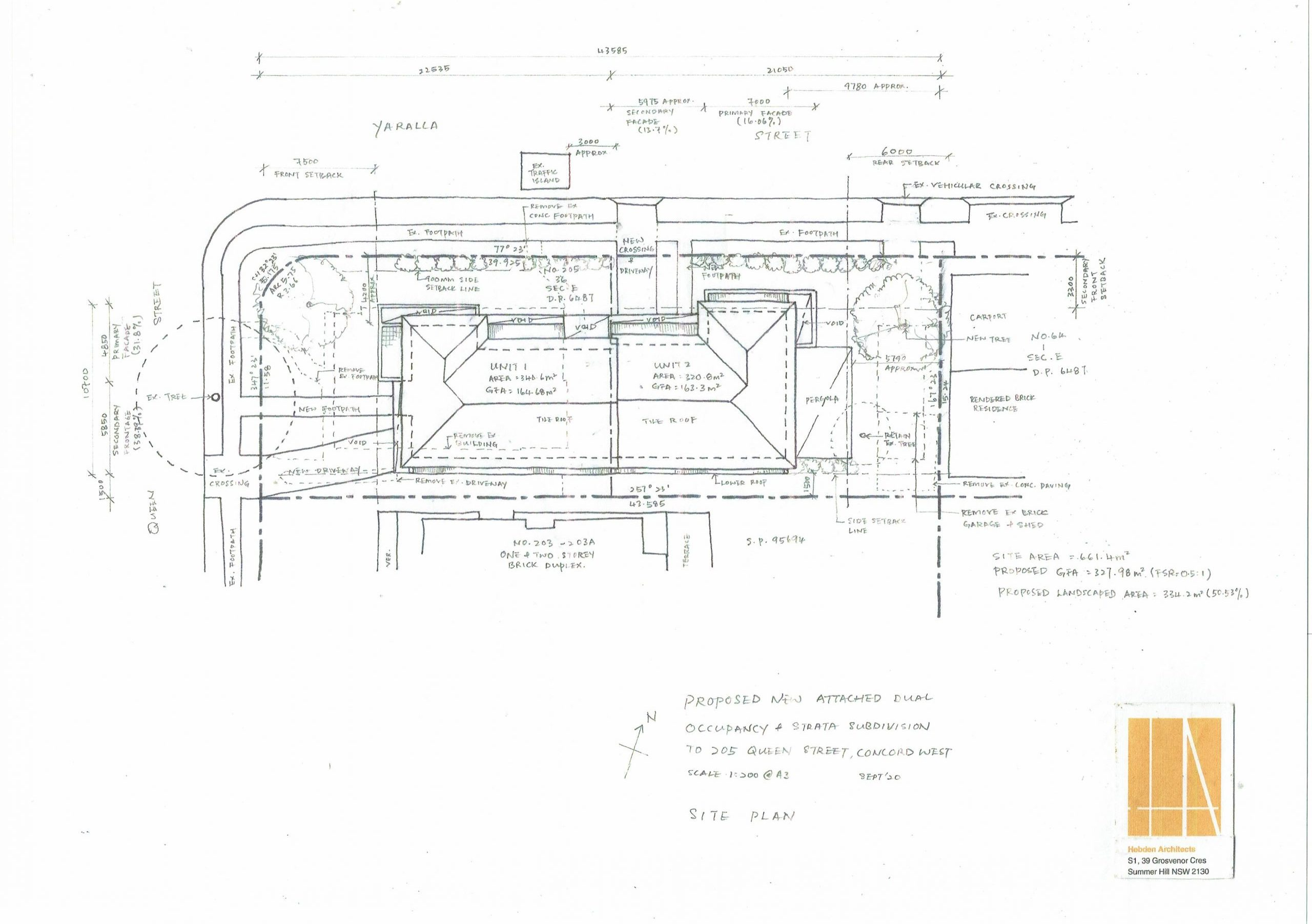 Duplex Concord West Sketch Drawings 16 09 2020 Page 1